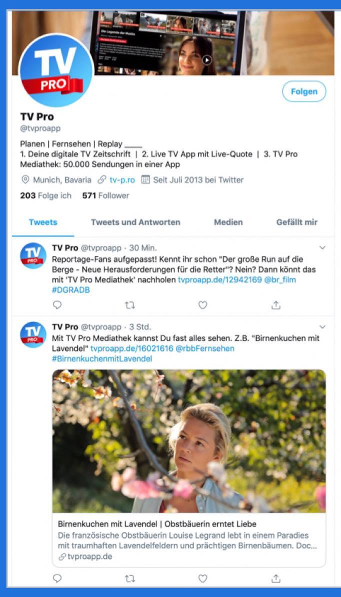 @tvproapp bei Twitter