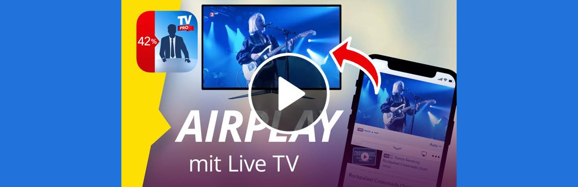 AirPlay mit Live TV im Video
