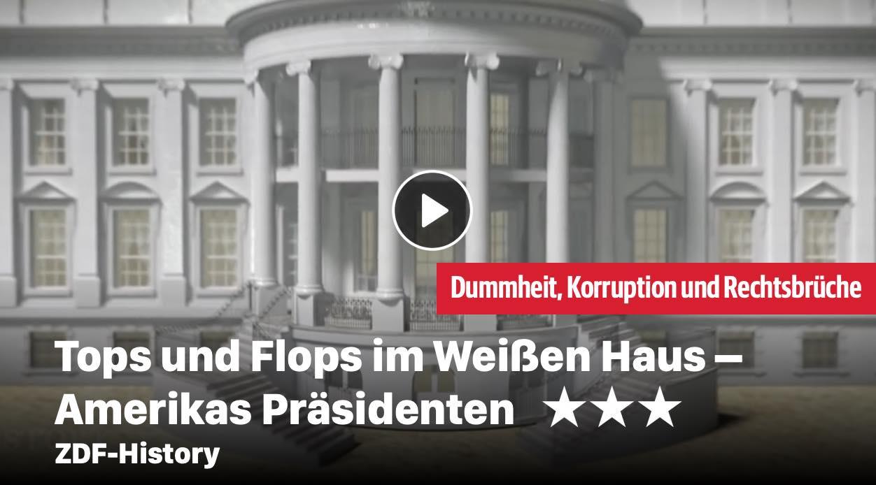 Tops und Flops im Weißen Haus