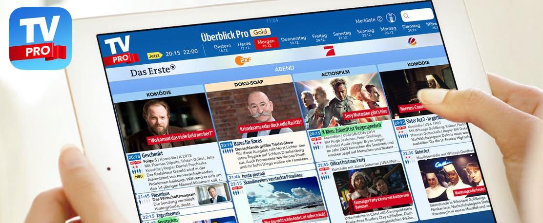 Überblick Pro in der TV Pro App