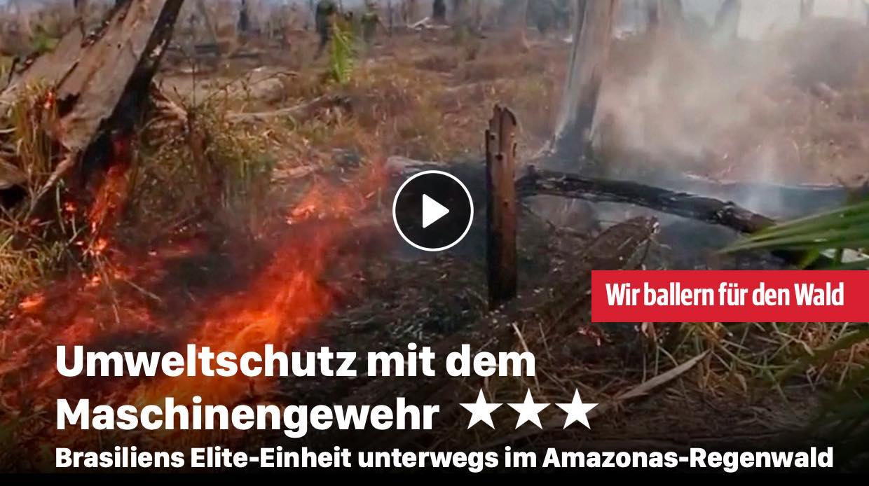Umweltschutz mit dem Maschinengewehr
