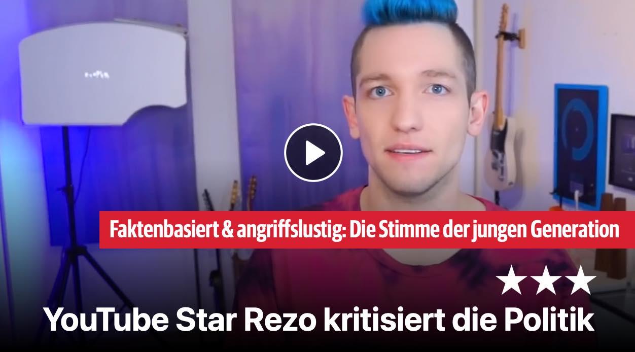 YouTube Star Rezo kritisiert die Politik