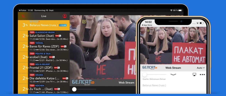 Live TV auf iPad und iPhone