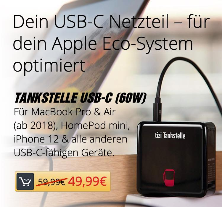 tizi Tankstation USB-C (60W)