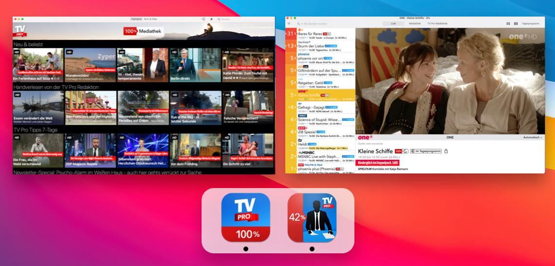 TV Pro Mediathek + Live TV unter Big Sur