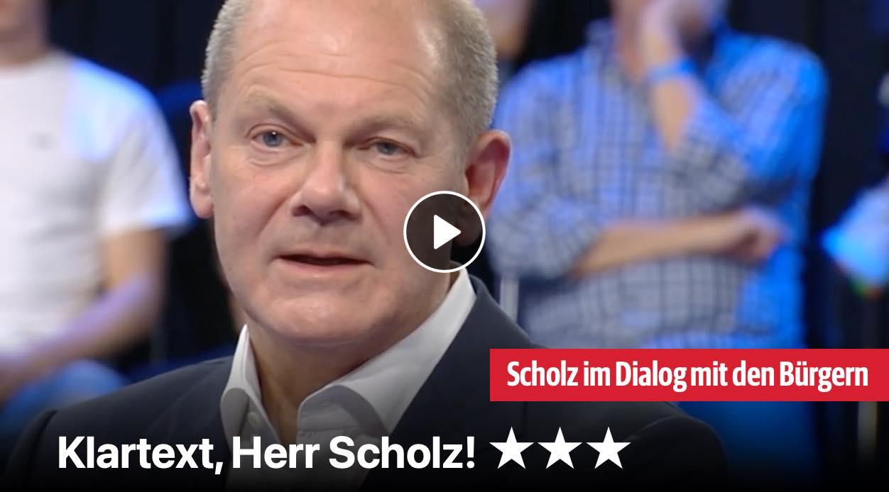 Klartext, Herr Scholz!