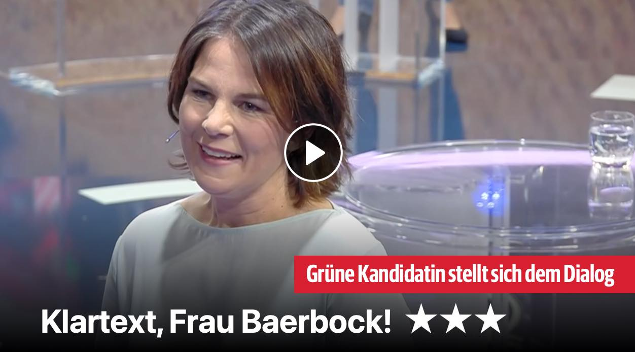 Klartext, Frau Baerbock!