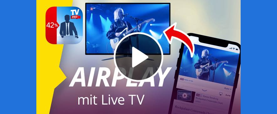 AirPlay mit Live TV