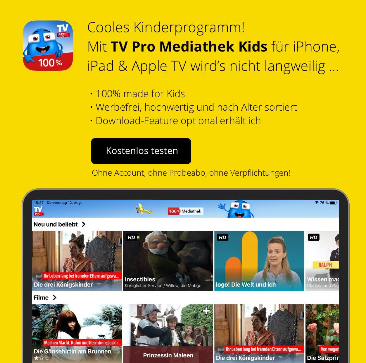 TV Pro Mediathek Kids