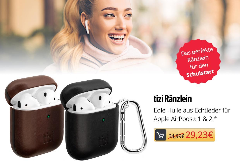 tizi Ränzlein - Echtleder-Hülle für Apple AirPods*