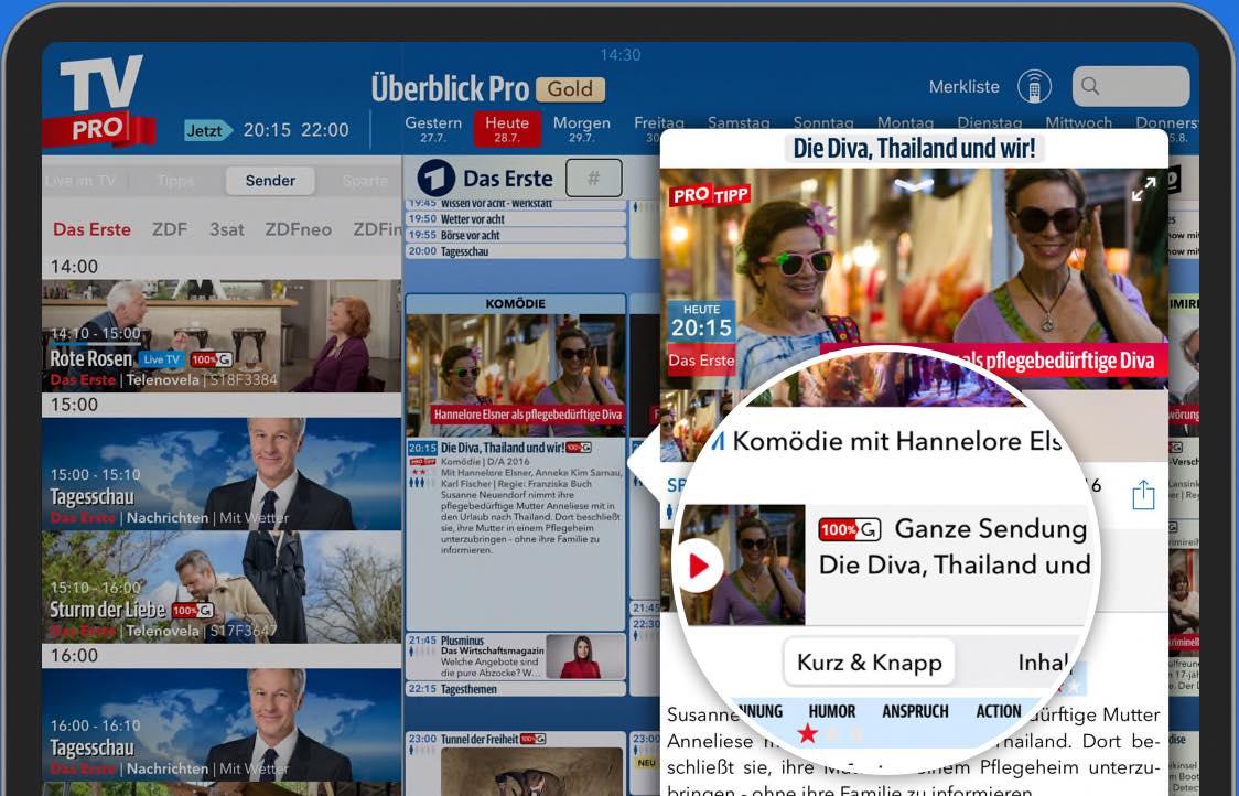 Direkte Mediathek-Verlinkung in TV Pro