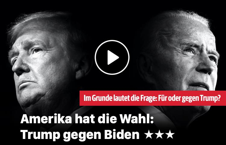 Amerika hat die Wahl: Trump vs. Biden