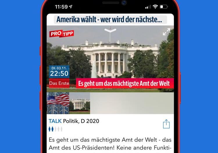 TV Pro auf dem iPhone